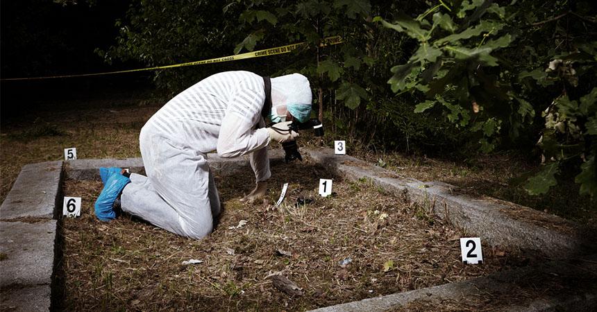 Los detectores de metales en la escena del crimen