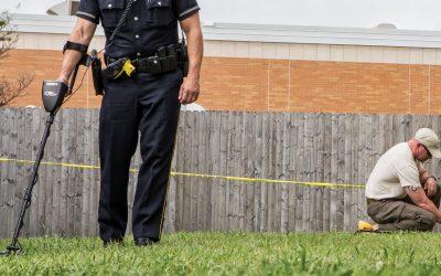 Detectores de metales en la escena del crimen